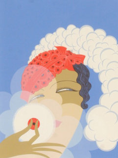 Makeup 1978 Limited Edition Print by  Erte