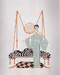 Pillow Swing 1985 Limited Edition Print -  Erte