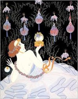 Stolen Kisses 1982 Limited Edition Print by  Erte