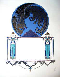Blue Asia 1985 Limited Edition Print by  Erte