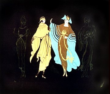 Metropolis Suite of 2 1978 Limited Edition Print -  Erte