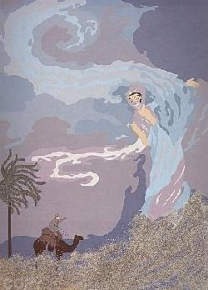 Sandstorm 1985 Limited Edition Print by  Erte