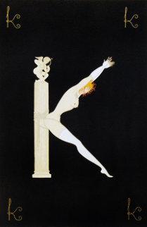 Alphabet Letter K 1976 AP Limited Edition Print -  Erte