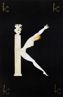 Alphabet Letter K 1976 AP Limited Edition Print by  Erte