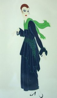 Blue Dress 1981 Limited Edition Print -  Erte