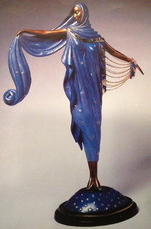 Moonlight Bronze Sculpture 1985 18 in Sculpture -  Erte
