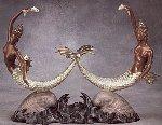Sirens Bronze Sculpture 1988 16 in Sculpture -  Erte