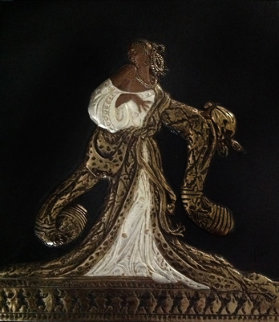 Rigoletto Bronze Bas Relief Sculpture 1988 Sculpture by  Erte