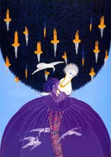 Freedom and Captivity 1982 Limited Edition Print -  Erte