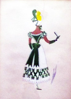 Costume Purported to Be For Gone With the Wind 24x20 Original Painting -  Erte