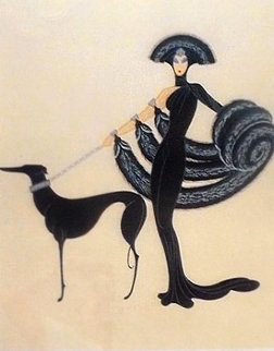 Symphony in Black from Theatre St. AP 1983 Limited Edition Print by  Erte