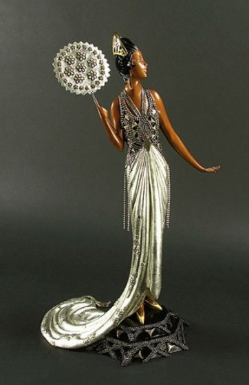 Fedora Bronze Sculpture 1989 Sculpture by  Erte