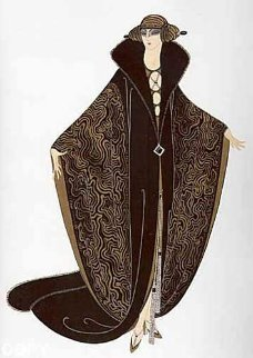 Golden Cloak 1979 Limited Edition Print by  Erte
