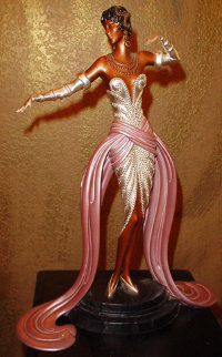 Belle De Ball Bronze Sculpture 1990 Sculpture -  Erte