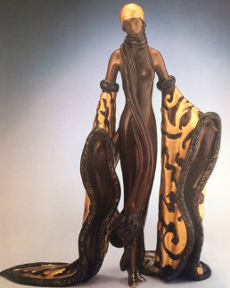 Mystic Bronze Sculpture 1988 Sculpture by  Erte