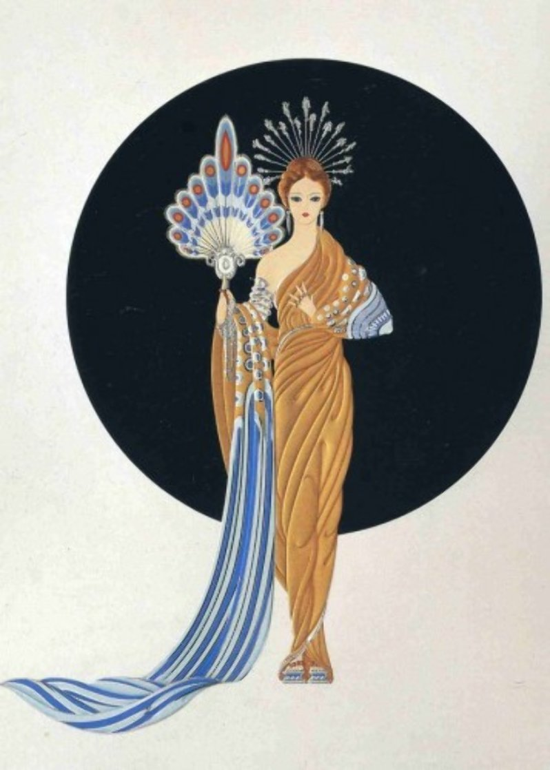 Athena 1986 Limited Edition Print by  Erte