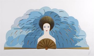 Storm and Harvest Suite of 2 1987 26x38  Huge Limited Edition Print -  Erte