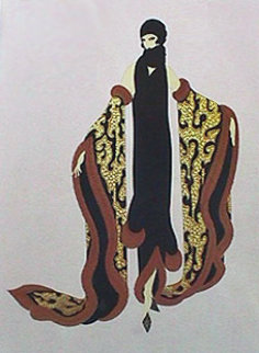 Fox Fur 1985 Limited Edition Print by  Erte