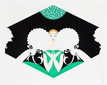 Suitors 1980 Limited Edition Print -  Erte