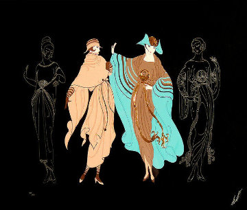 On the Avenue 1985 Limited Edition Print by  Erte
