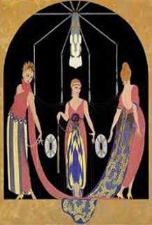 Three Graces 1985 Limited Edition Print -  Erte