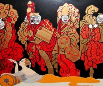 Opium 1985 Limited Edition Print by  Erte