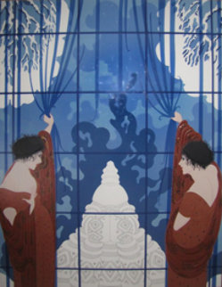 Winter's Arrival 1984 Limited Edition Print by  Erte