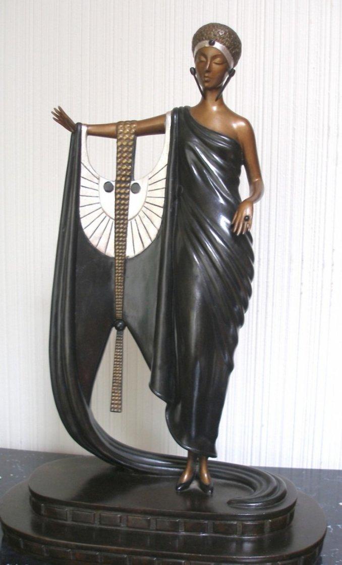 Sophisticated Lady Bronze Sculpture 1980 Sculpture by  Erte
