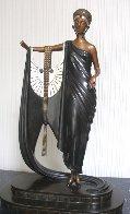Sophisticated Lady Bronze Sculpture 1980 Sculpture by  Erte - 0