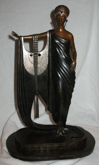 Sophisticated Lady Bronze Sculpture 1983 16 in Sculpture -  Erte