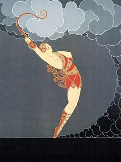 Dancer 1983 Limited Edition Print by  Erte