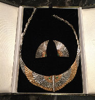 Nile Gold Necklace And Earrings 1980 Jewelry by  Erte - 1