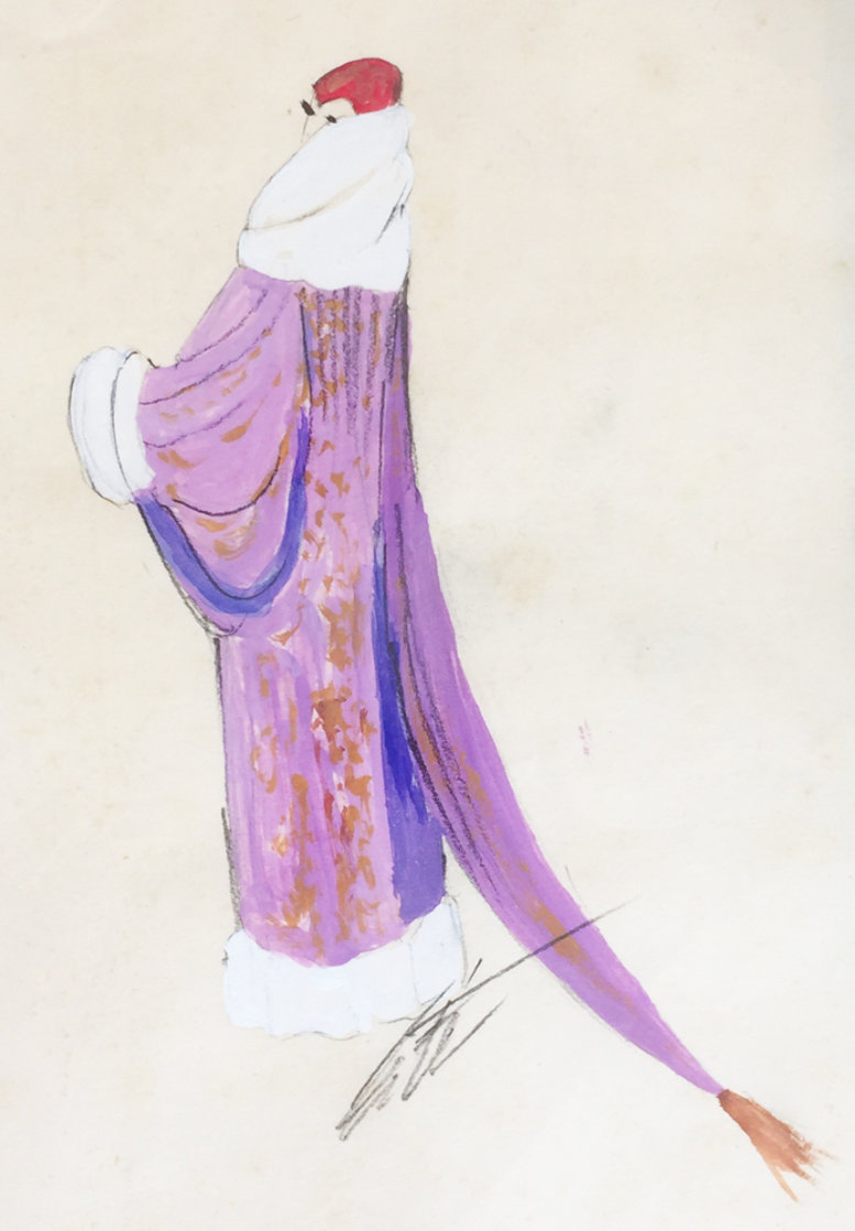 Costume Design Series 1937 15x12 Original Painting by  Erte