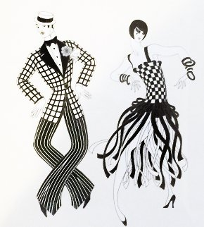 Charleston Couple Limited Edition Print by  Erte