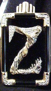 Erte Letter Z Pendant/Brooch 1990 Jewelry by  Erte