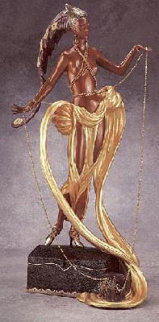 Pleasure of the Courtesan Bronze Sculpture 1990 19 in  Sculpture -  Erte