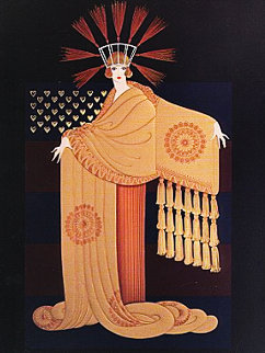 Tassel Gown 1987 Limited Edition Print by  Erte
