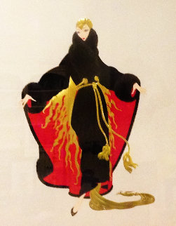 Paris Days And Nights Suite - Place De l'opera And Faubourg St. Honore 1990 Limited Edition Print by  Erte