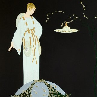 Moon Garden 1991 Limited Edition Print by  Erte