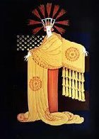 American Millionaires Suite: Tassel Gown 1987 Limited Edition Print by  Erte - 0
