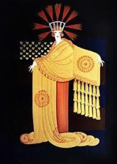 American Millionaires Suite: Tassel Gown 1987 Limited Edition Print by  Erte