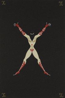 Letter X AP 1976 Limited Edition Print -  Erte
