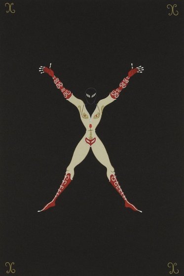 Letter X AP 1976 Limited Edition Print by  Erte