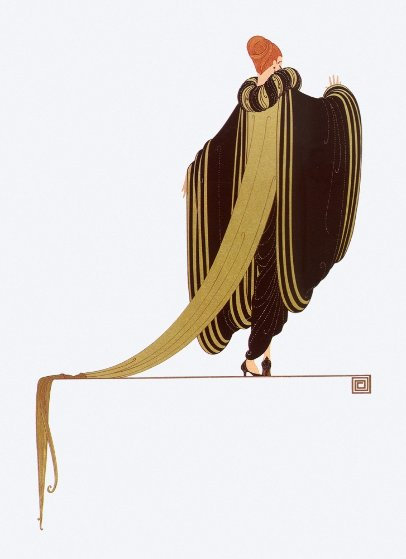 Ready For the Ball 1982 Limited Edition Print by  Erte