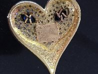 Mystery of the Heart  Gold Pendant 1984 Jewelry by  Erte - 1