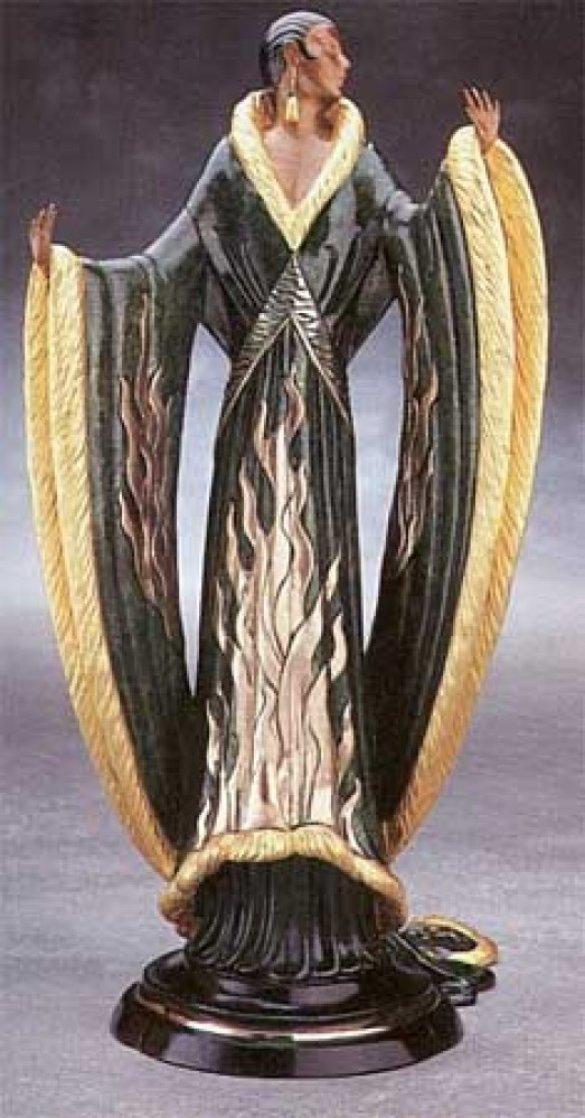 Femme Deluxe Bronze Sculpture 1990 18 in Sculpture by  Erte