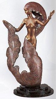 Folies Bergere Bronze Sculpture 1987 Sculpture -  Erte