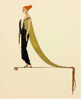 Ready for the Ball, Diptych 1982 Limited Edition Print by  Erte - 2
