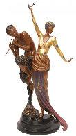 Woman And Satyr Bronze Sculpture 1985 Sculpture by  Erte - 0