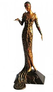 Julietta Bronze Sculpture 1987 18 in Sculpture -  Erte